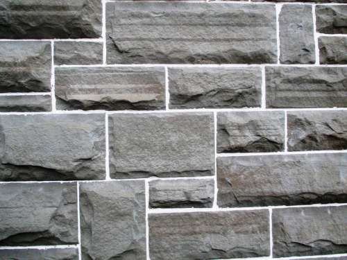 Wall Design Art Sand Stone Joints White Close Up