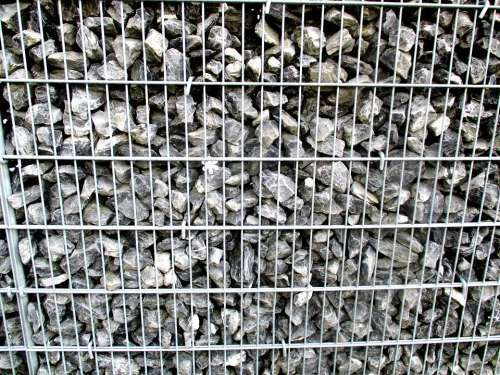 Wall Stone Wall Grid Metal
