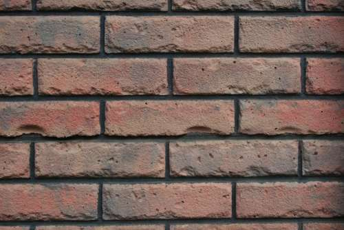 Wall Brick Reds Browns Rows Pattern