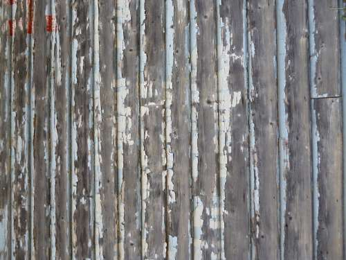 Wall Old Unpainted Wooden Wood Chipped Distressed