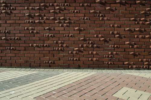 Wall Brick Floor Cement Painted Old Background