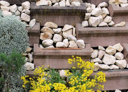 Wall Rubble Wall Stone Wall Plant Fouling