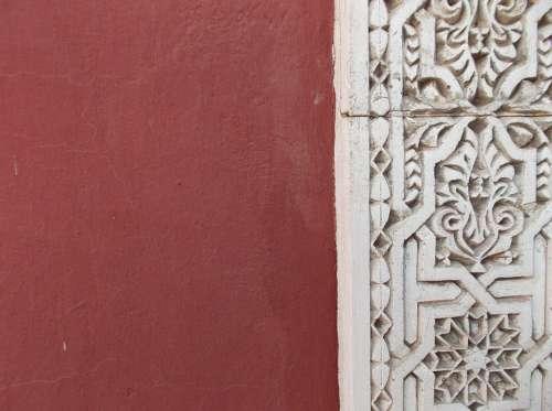 Wall Marrakech Pattern Ox Blood Red