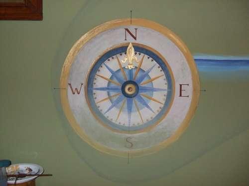 Wall Painting Compass Falidekor