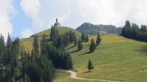 Wallberg Chapel Hiking Hiking Area Mountain Alpine