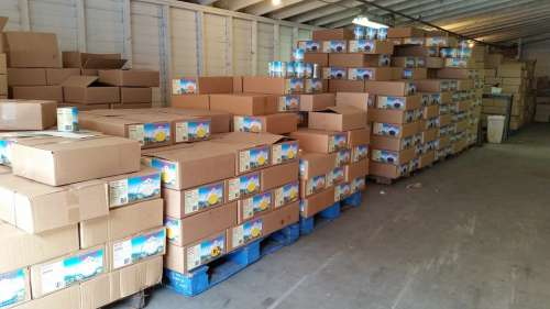 Warehouse Pallet Food Product Box Storage Produce