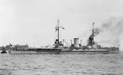 Warship Battleship Sms Moltke Hampton Roads 1912