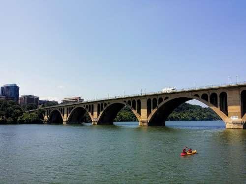 Washington Dc River Bridge Rosslyn Potomac River