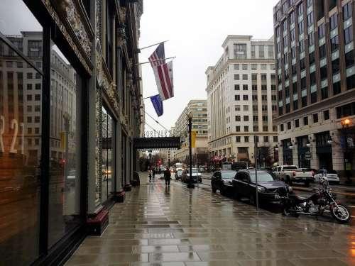 Washington Dc Dc City Street Urban Building
