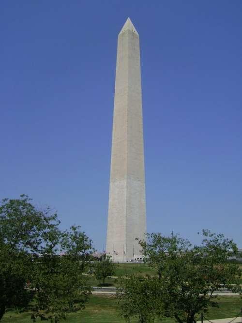 Washington Monument Obelisc Washington Dc Capital