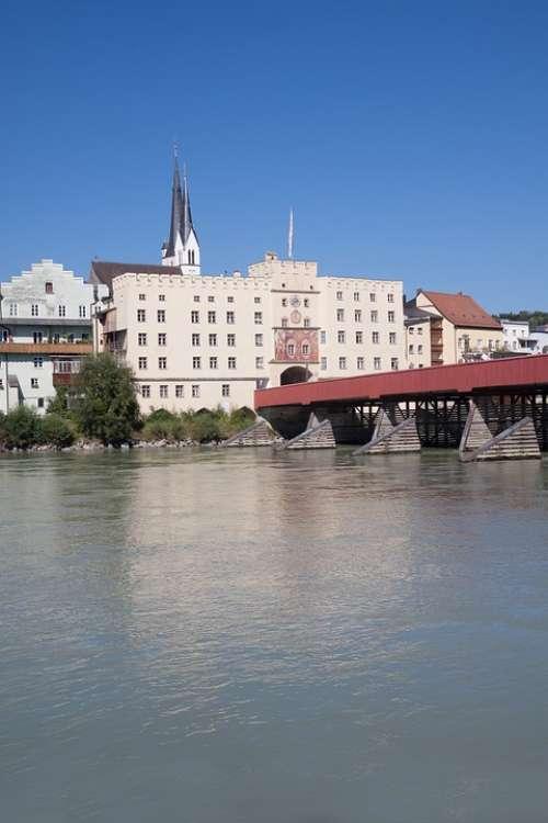 Wasserburg City River Fixing Bridge Architecture