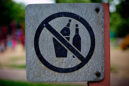 Waste Garbage Signs Bans Bottles Recycled Glass