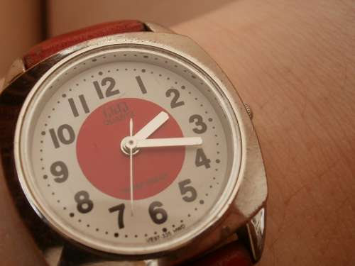Watch Red Art Clock Czech One Two Three Four