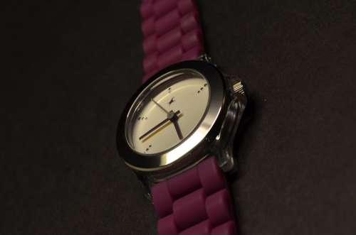 Watch Purple Time Clock