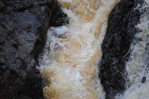 Water Water Fall Rushing Water Scenery Copper Falls