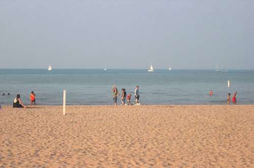 Water Beach Outside People Scenery Leisure