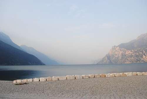Water Lake Garda View Mood Sky Blue Horizon