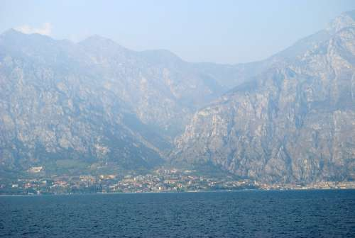 Water Lake Garda View Mood Sky Blue Horizon