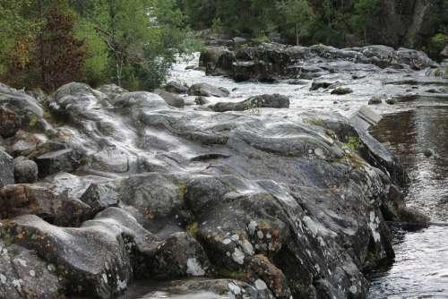 Water Waterfall River Stones