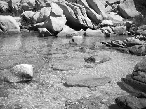 Water Sea Rocks Landscape Nature