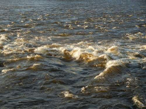 Water Waterscape Waves Bubbles Splash Flow
