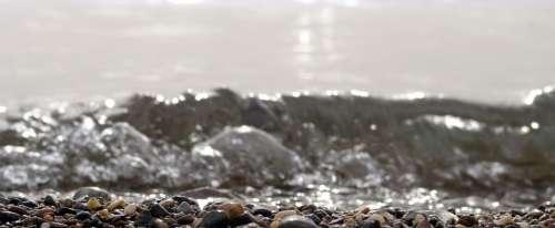 Water Sea Recede Receding Stone Stones Wave