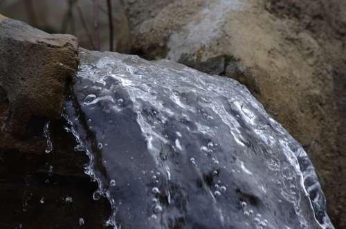 Water Flow Droplets Splash Liquid Elements