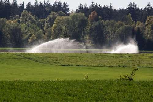 Water Fields Blow Up Irrigation Artificial