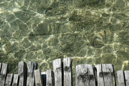 Water Bridge Lake Wood Surface Depths Summer