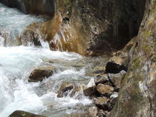 Water Stone Rock Bach Splash