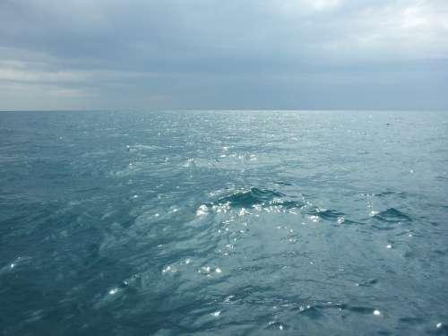 Water Endless Lake Huron Sunny Canada