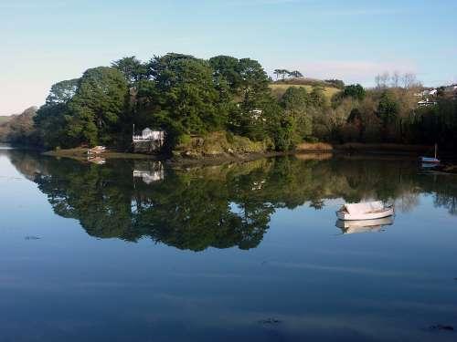 Water Boats Sea Nature Landscape Mirroring