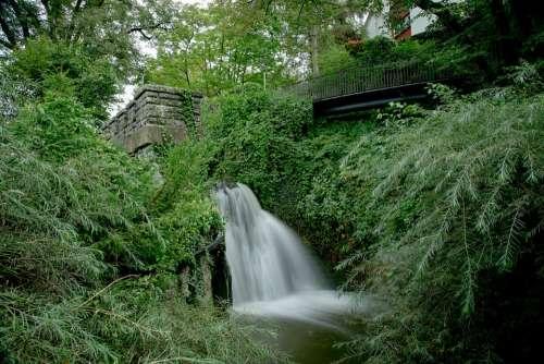Water River Waterfall Long Exposure Bach Nature