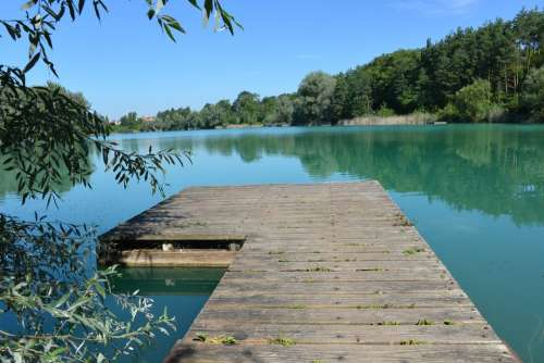 Water Web Lake Sea Nature Bridge River Sky