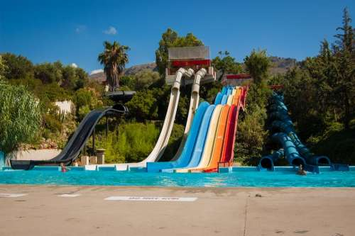 Water Park Slide The Sun Weather Holidays Greece