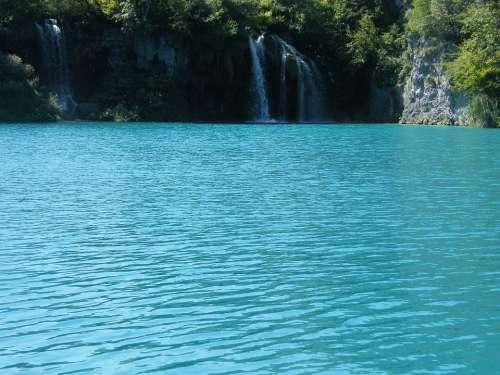 Waterfall Croatia Plittvice Lakes Magic