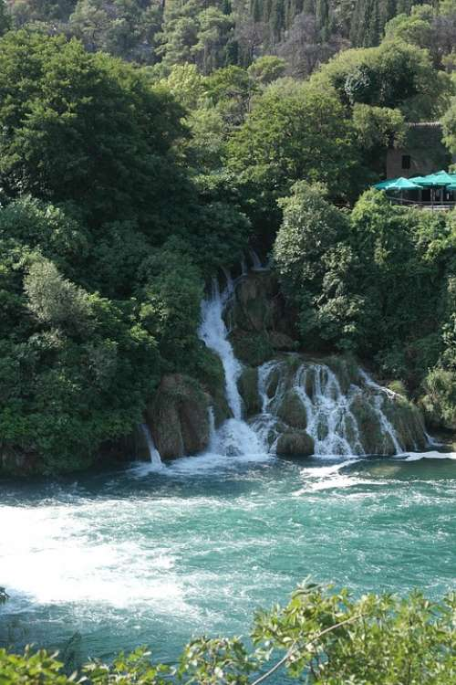 Waterfall Krka Holidays Trip Croatia Purity