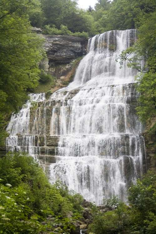 Waterfall River Force Energy Mountains Herrisson