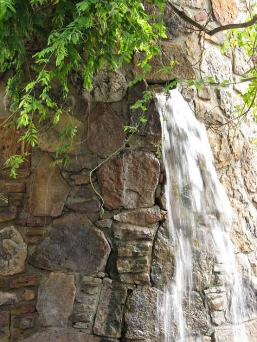 Waterfall Fountain Architecture Urban Water
