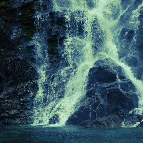 Waterfall Ticino Cold Blue Rock Rocky Iced Water