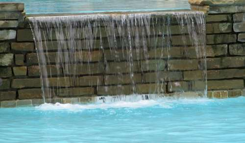 Waterfall Water Stone Brick Wet Beauty Flow