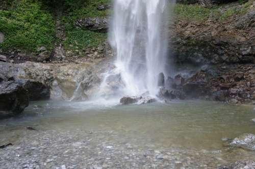 Waterfall Water Basin Inject Flow Murmur Water