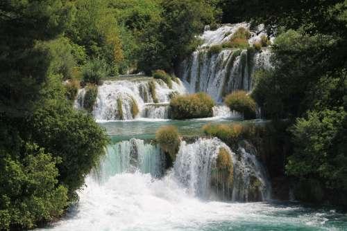 Waterfall Croatia Krka