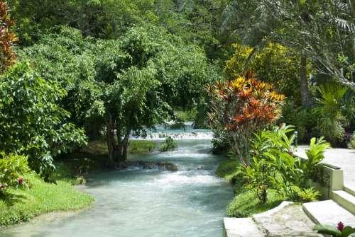 Waterfall Long Exposure River Stream Nature Water