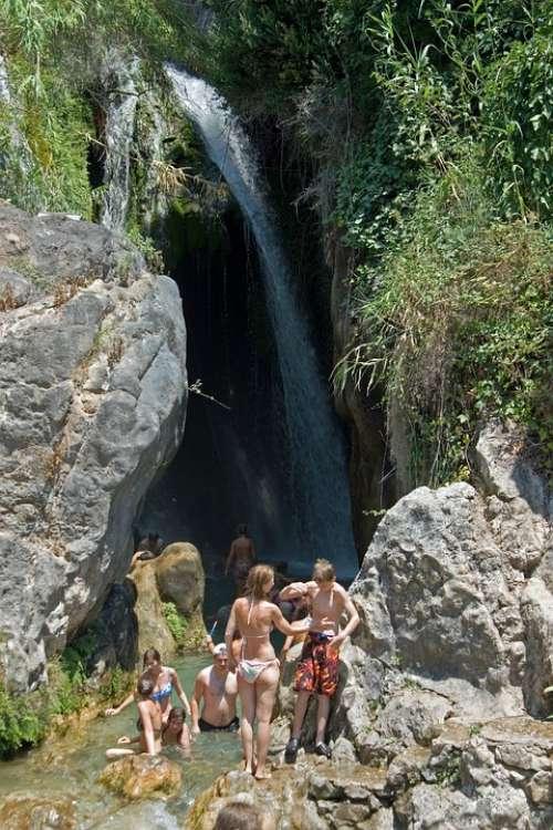 Waterfall Holiday River Bathing