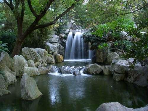Waterfall Chinese Garden Australia Tourism