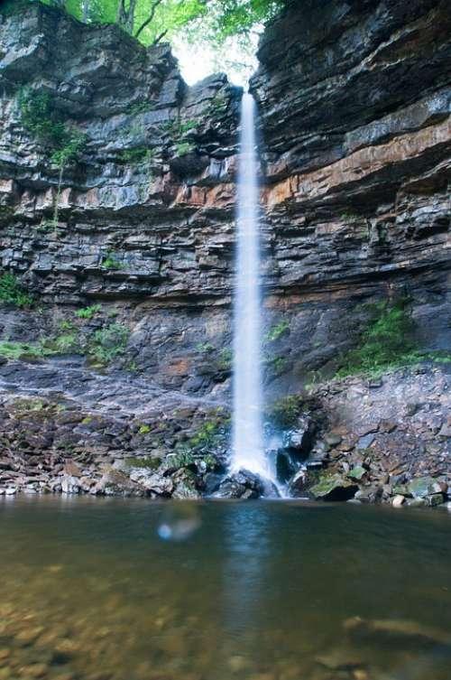 Waterfall Hardraw Yorkshire Flow Pool Fall Rocks