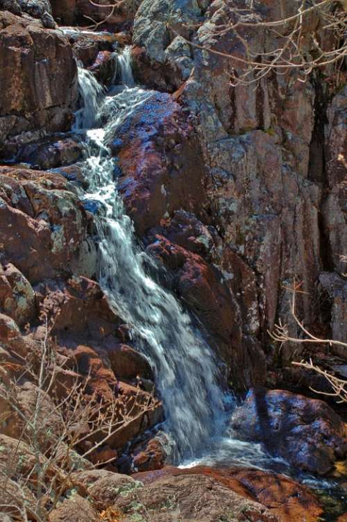 Waterfall Nature Landscape River Water Rock Stone