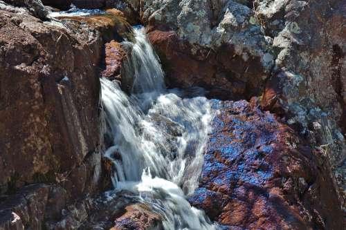 Waterfall Nature Landscape River Water Rock Stone