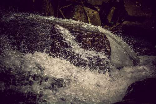 Waterfall Stones Mountains Water Rock Nature
